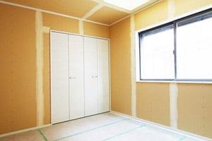 施工中の部屋